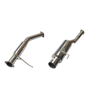 "Cat Back Exhuast 89-94 204sx S13 3 ""Pipe N1 4 \"" Tip Acero inoxidable 201 Sistema de escape pulido espejo"